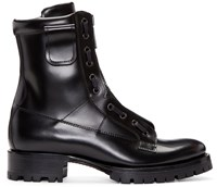 Dsquared Black Leather Asylum Boots