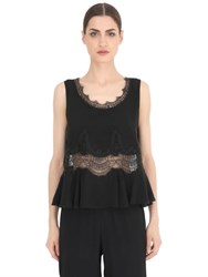 Ermanno Scervino Cady And Lace Top