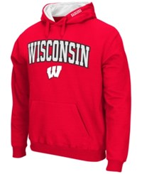 Colosseum Men's Wisconsin Badgers Arch Logo Hoodie Red