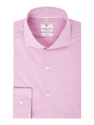 Richard James Men's Mayfair Mini Gingham Slim Fit Shirt Pink