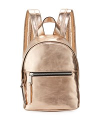 French Connection Jace Small Metallic Backpack Rose Gold