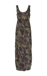 Nili Lotan Camo Silk Tank Dress Print