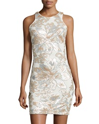 Alexia Admor Sequined Sleeevless Sheath Dress Champagne