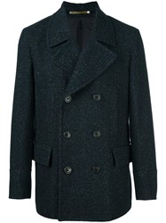 Paul Smith Ps By Double Breasted Coat Blue