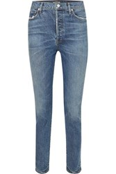 Citizens Of Humanity Olivia High Rise Slim Leg Jeans Mid Denim