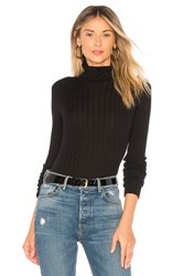 Autumn Cashmere Rib Turtleneck Black