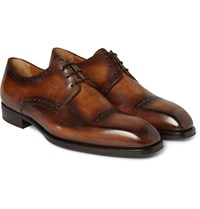 Berluti Venezia Leather Derby Shoes Brown