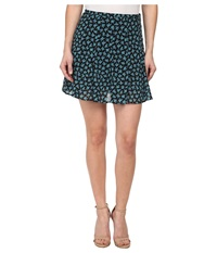 Michael Michael Kors Petite Sea Orchid Flare Skirt Peacock Women's Skirt Multi