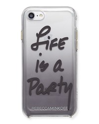 Rebecca Minkoff Life Is A Party Ombre Phone Case Black Black Pattern