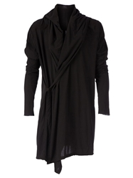 Lost And Found Wrap Style Hooded Cardigan