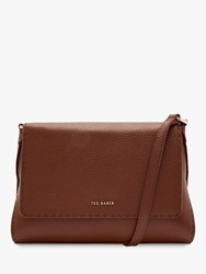Ted Baker Arista Small Leather Tote Bag Brown