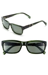 Men's Original Penguin 'The Sammy' 56Mm Polarized Sunglasses Feathered Green Green