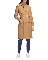 Whistles Zip Detail Trench Coat Beige
