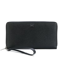 Dolce And Gabbana Dauphine Continental Wallet Men Leather One Size Black