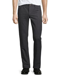 Robert Graham Boyne Valley Plaid Cotton Pants Charcoal Grey