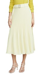 Club Monaco Split Pleat Skirt Green
