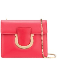 Salvatore Ferragamo Gancio Cross Body Bag Red