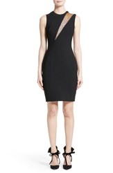 Versace Women's Mesh Inset Sheath Dress