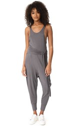 Free People Movement Centered Jumpsuit Washed Black