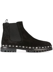 Car Shoe Embellished Chelsea Boots Black