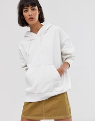 Weekday Oversized Hoodie In White