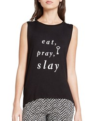 Bcbgeneration Slay All Day Muscle Tank Top Black