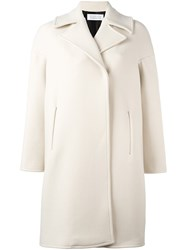 Gianluca Capannolo Collared Knee Length Coat Nude And Neutrals