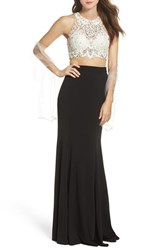 Jvn By Jovani Women's Two Piece Gown And Shawl