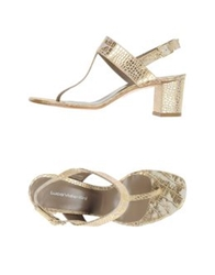Luca Valentini Thong Sandals Gold