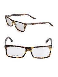 Saint Laurent 50Mm Rectangular Tortoiseshell Optical Glasses Havana