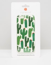 Signature Cactus Print Iphone 6 Case Cactus 2 Green