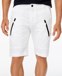 Inc International Concepts I.N.C. Men's 11 Cargo Shorts Created For Macy's White Pure