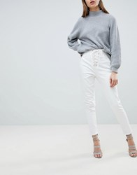 Ivyrevel Jean With Lace Up Front White