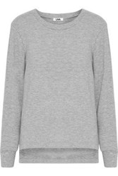 Lna Pier Brushed Stretch Tencel Sweatshirt Stone