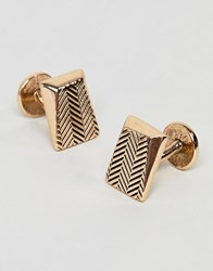 Icon Brand Antique Gold Faceted Cufflinks