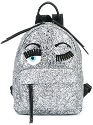 Chiara Ferragni 'Flirting' Glitter Backpack Metallic