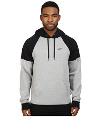 Vans Core Color Block Pullover Ii Cement Heather Black Men's Sweatshirt White