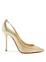 Christian Louboutin Decoltish 100Mm Leather Pumps Gold