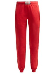 Vetements Boxer Tag Cotton Track Pants Red