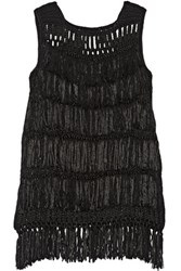 Maiyet Fringed Macrame Tunic Black