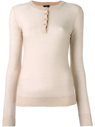 Joseph Henley Jumper Nude And Neutrals