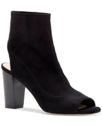 Inc International Concepts Women's Kayden Peep Toe Booties Only At Macy's Women's Shoes Black