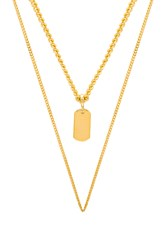Five And Two Peyton Necklace Metallic Gold