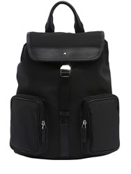 Montblanc Sartorial Jet Leather And Nylon Backpack Black