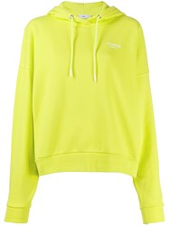 Closed Embroidered Logo Hoodie Yellow