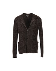 Emporio Armani Cardigans Dark Brown
