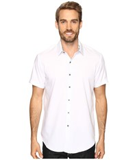 Robert Graham Vertigo Shirt White Men's Short Sleeve Button Up