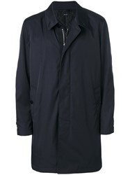 Tom Ford Waterproof Parka Silk Cotton Calf Leather Cupro Blue