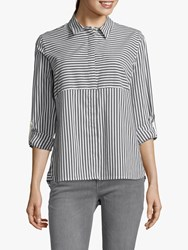 Betty And Co. Striped Shirt White Blue
