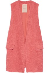 Roksanda Ilincic Myers Wool Blend Boucle Gilet Bubblegum